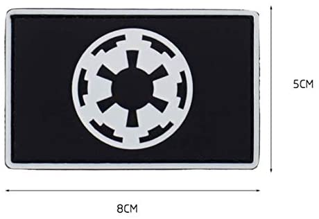Star Wars Imperial Galactic Empire PVC Military Tactical Morale Patch Badges Emblem Applique Hook Patches for Clothes Backpack Accessories