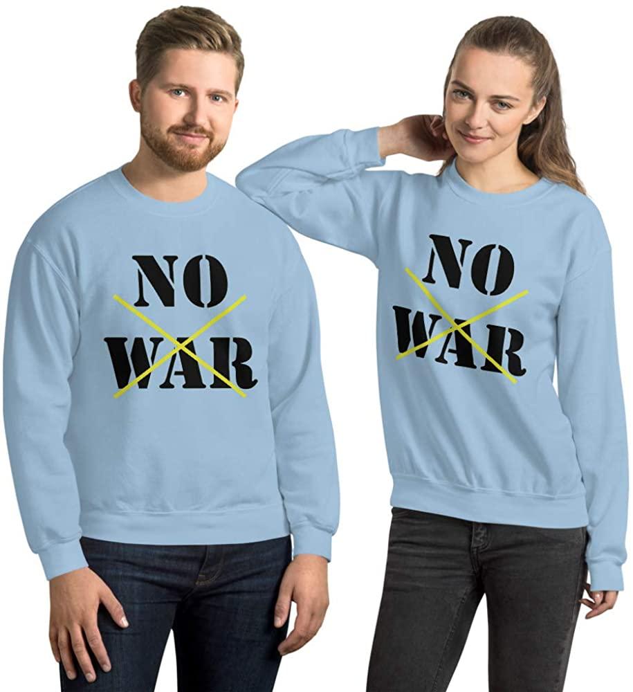 'NO WAR' 50% Cotton, 50% Polyester • Pre-Shrunk Unisex Sweatshirt