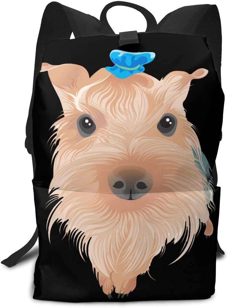 KLQ Terrier Bull Terrier Boston Terrier Travel Backpack Business Daypack Shoulders Bag Computer Rucksack