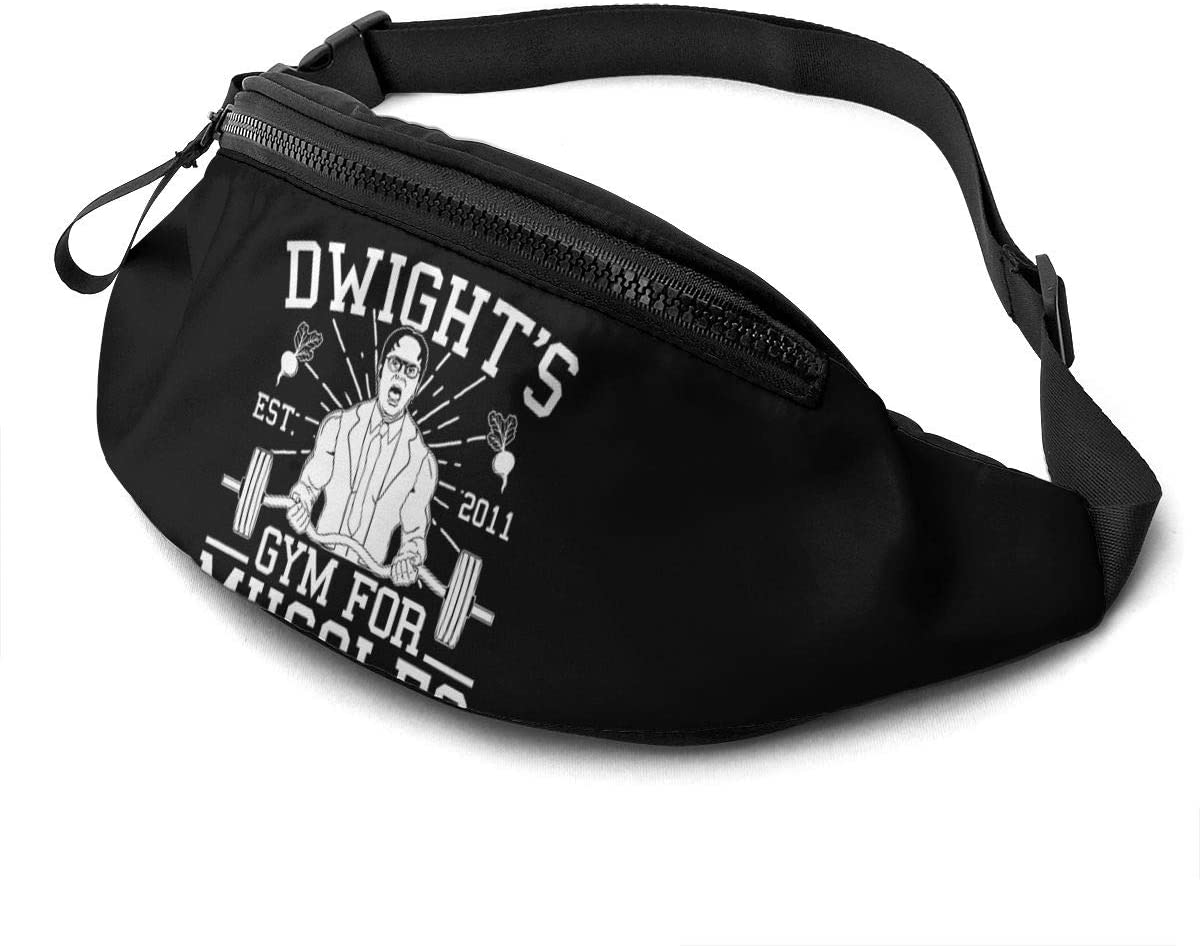 Qwertyi Dwight Schrute Not Limited to Men and Women Running Waist Packs Casual Waist Bag