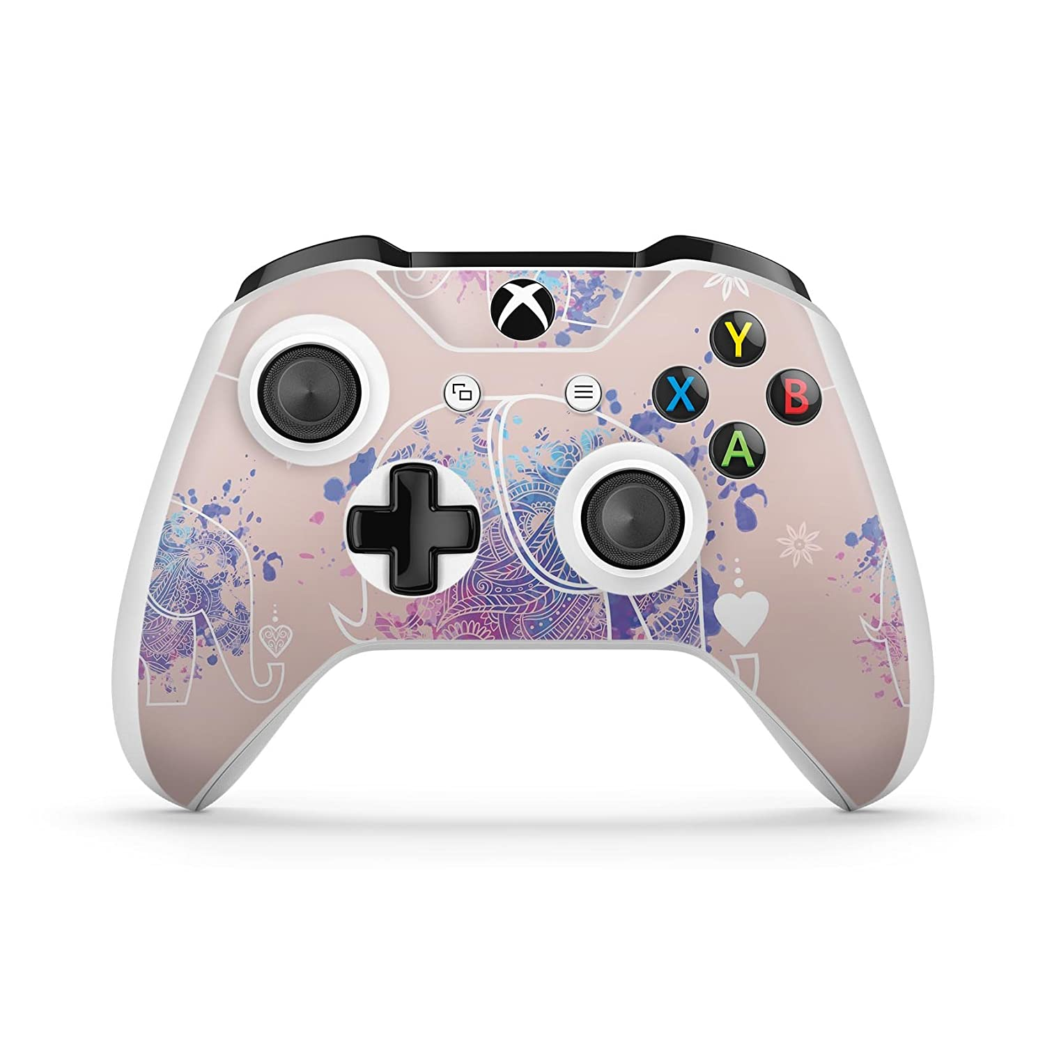Fun Sacred Elephants - Protective Vinyl DesignSkinz Decal Sticker Skin-Kit for the Microsoft Xbox ONE / ONE S Controller