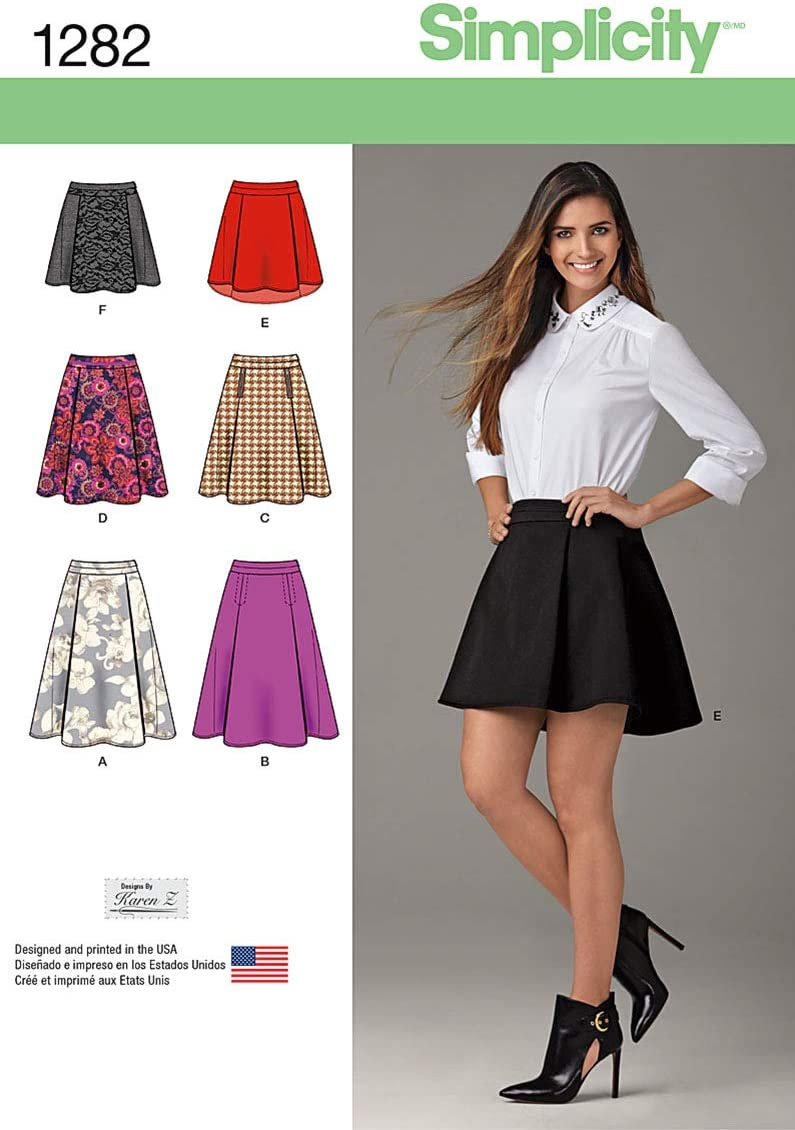 Simplicity US1282H5 Misses Skirt Sewing Template