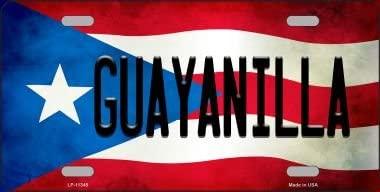 Smart Blonde Guayanilla Puerto Rico Flag Background License Plate Metal Novelty LP-11345