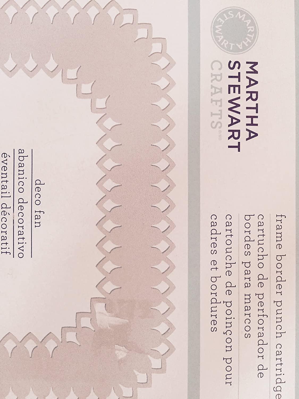 Martha Stewart Deco Fan Frame Border Punch Cartridge
