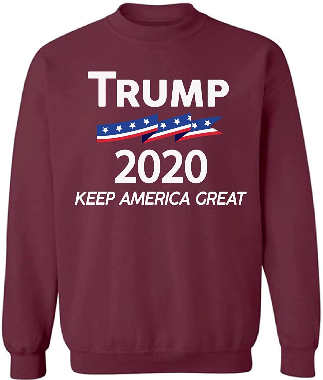 Pekatees Trump Crewneck Top President'20 Sweatshirts