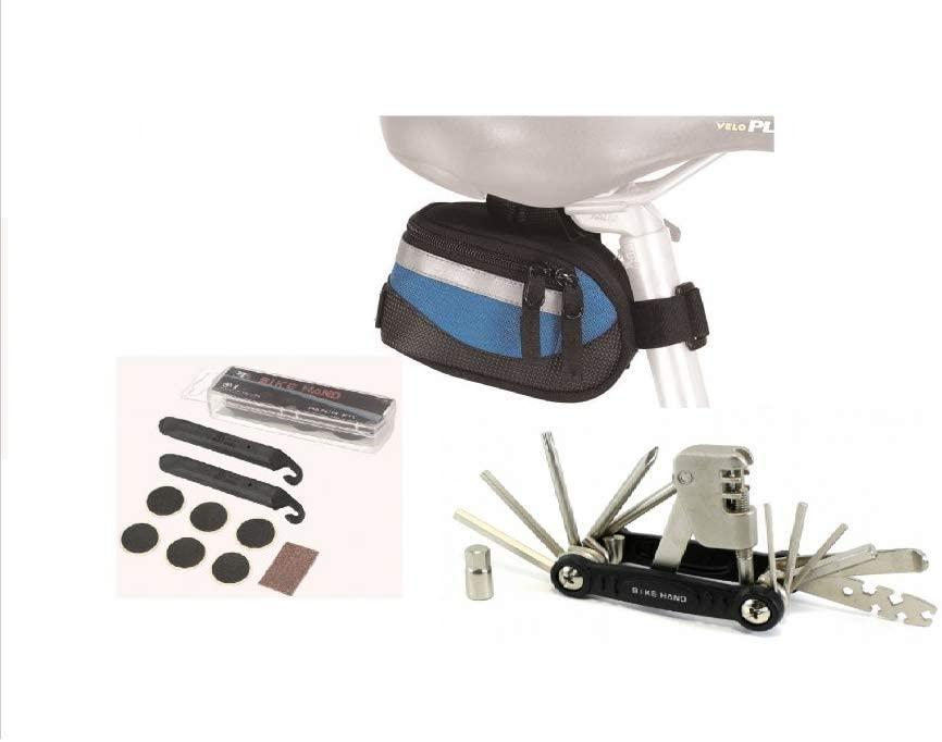EyezOff Bicycle Saddle Bag with Tool Kit, Tire Levers, Tire Repair Kit
