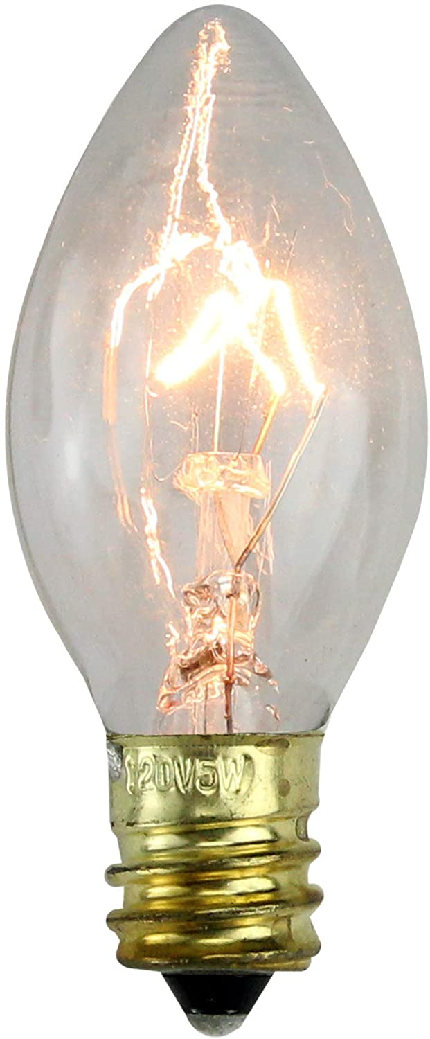 Northlight Pack of 25 Incandescent C7 Clear Christmas Replacement Bulbs