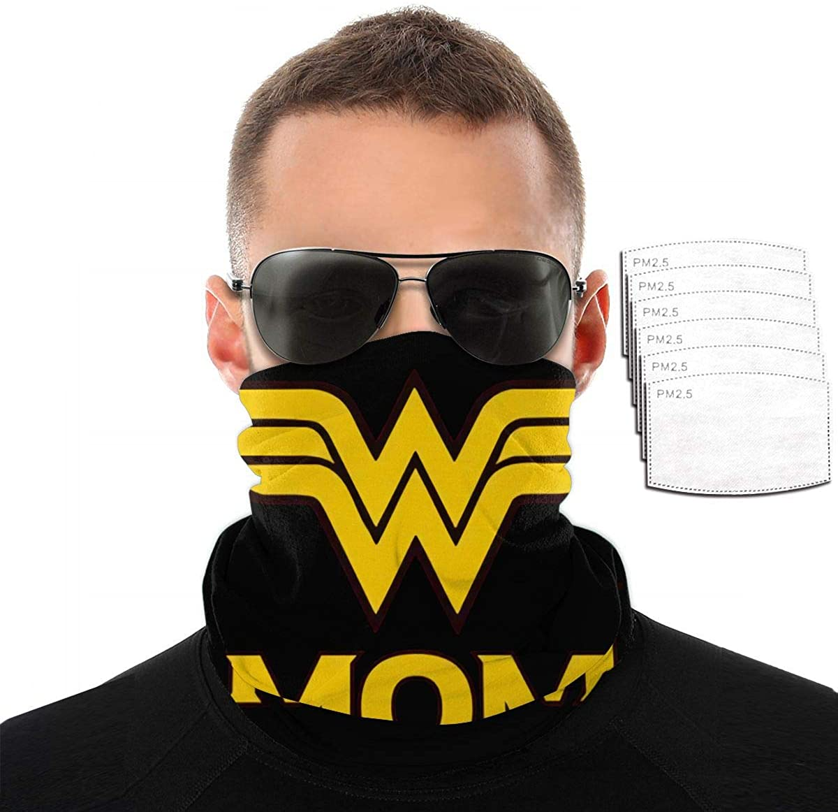 Wonder Woman Balaclavas Scarf Variety Face Towel With 2/6/10 Filter Soft Bandanas