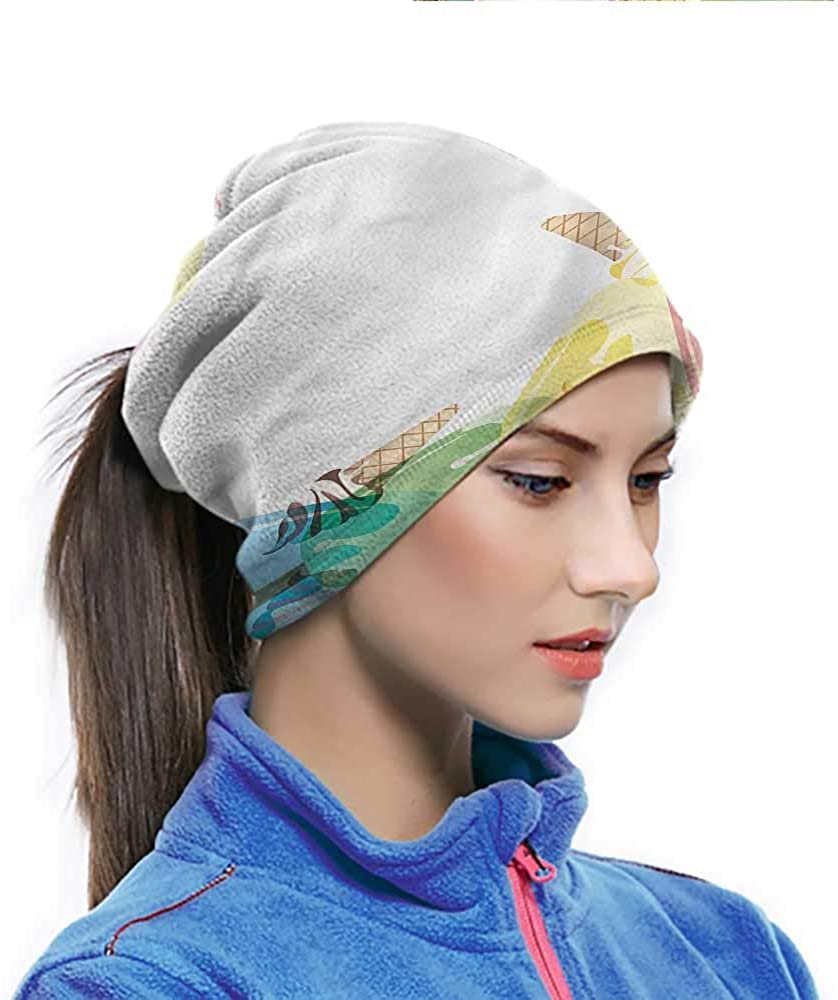 Hairwraps Ice Cream, Sugary Treats Freshness Breathable Neck Cover Offer More Protection for Your 10 x 11.6 Inch
