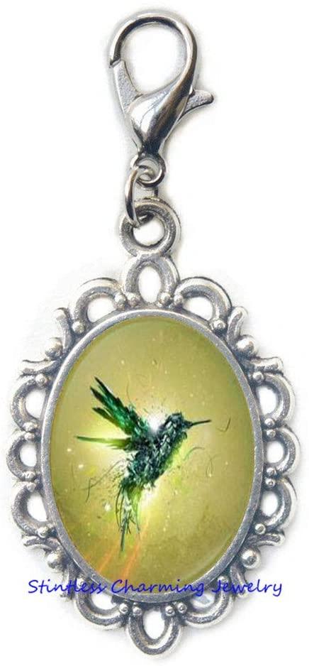 Hummingbird Art Lobster Clasp,Hummingbird Zipper Pull,Bird Zipper Pull,Nature Jewelry,Nature Zipper Pull,Bird Jewelry,Bird Lobster Clasp -JV188