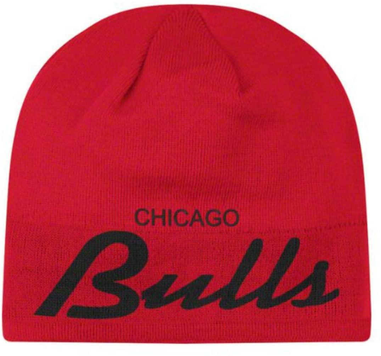 Genuine Merchandise Chicago Bulls Cuffless Knit Beanie Hat Cap - Red