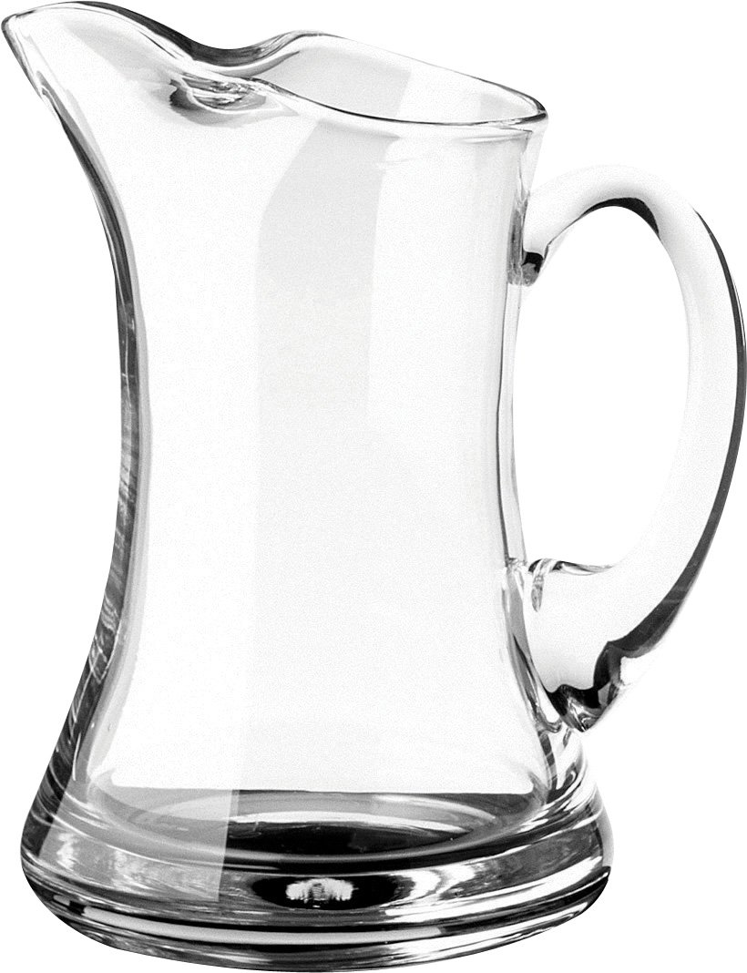 Hospitality Glass Brands HG80200-006 Ice Lipped Waisted Jug, 38 oz. (Pack of 6)