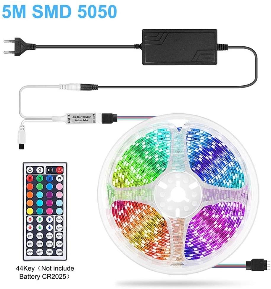 JELO Premium Led Strip Lights, Led Strip RGB Tape SMD 5050 2835 Flexible 5M 10M Led Strip Lights for Bedroom,Room, Bedroom,Tv,Kitchen,Desk Professional & Upgraded
