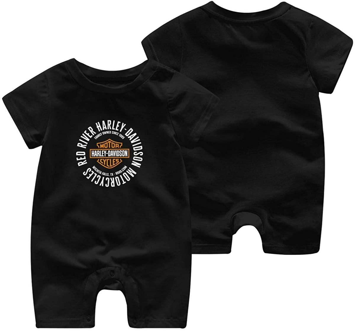 Harley Davidson Logo Baby Boys Girls Bodysuit Short Sleeve T Shirts Onesies Clothes