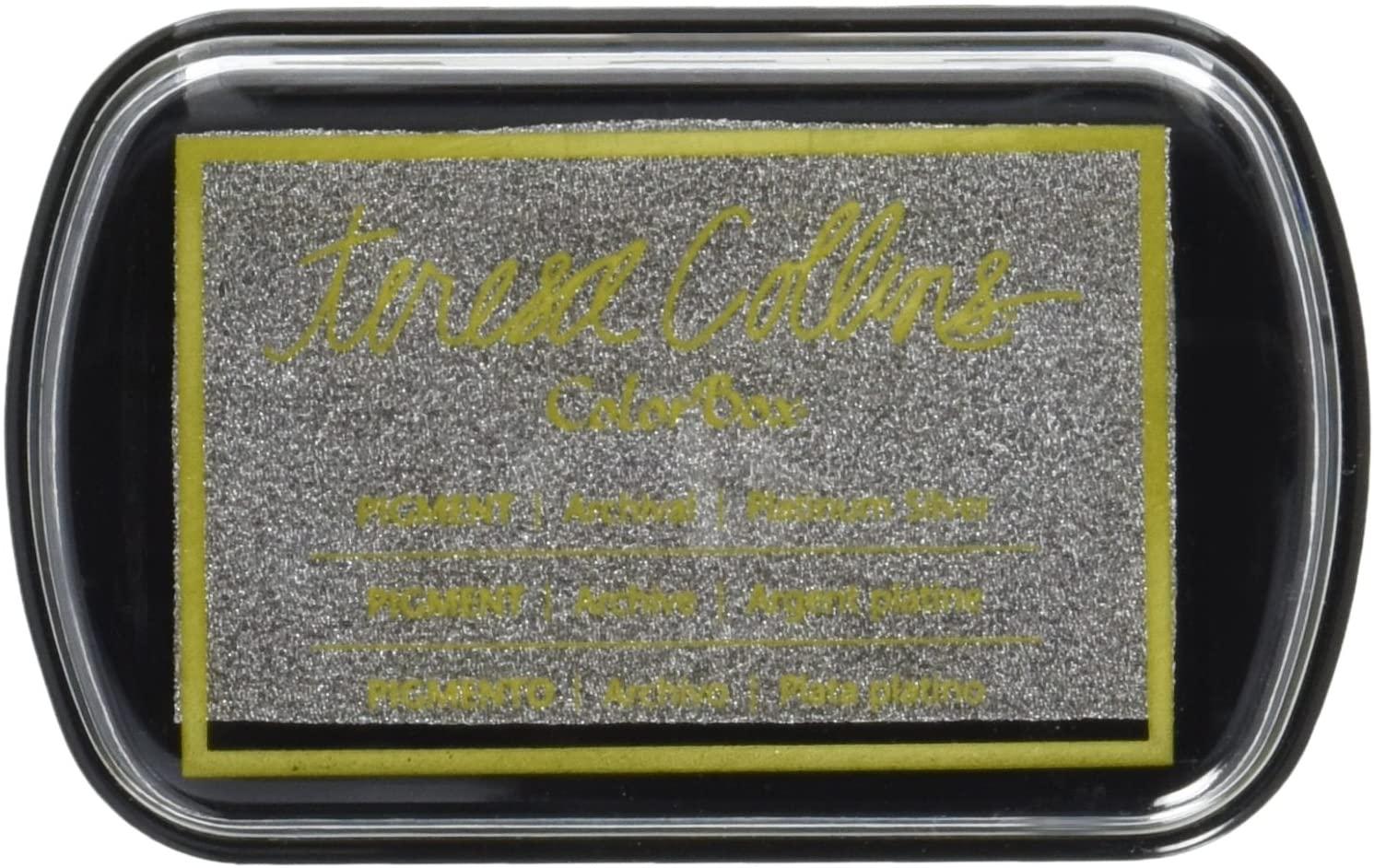 Clearsnap Teresa Collins Pigment Ink Pad, Platinum Silver