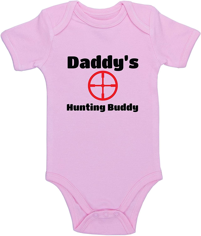 Kinacle Daddys Hunting Buddy Baby Bodysuit