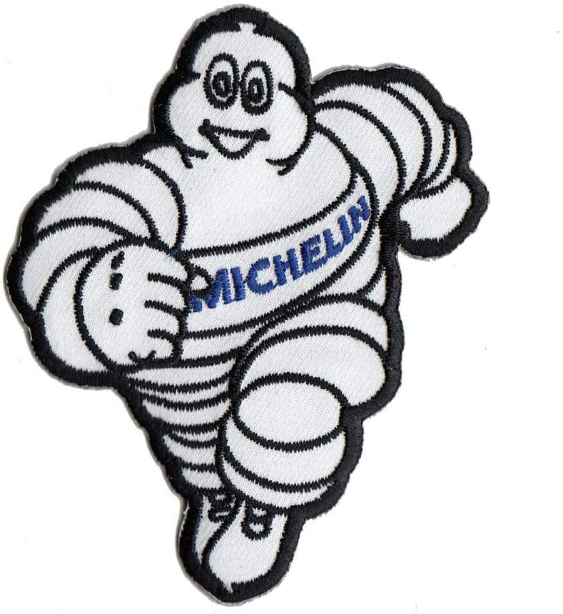 Michelin Man Tires Patch Racing Embroidered Hoodie Iron on Sew Jacket Vest Hat Jeans Shirt Applique 3