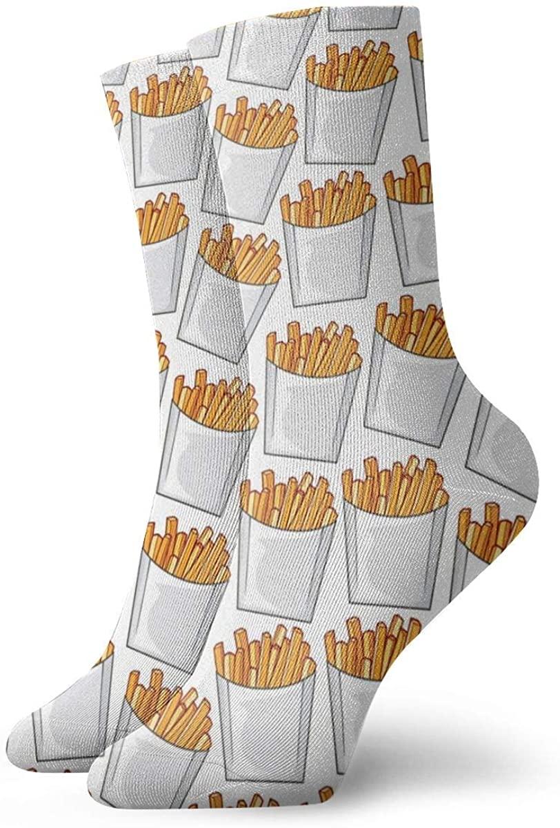French Fries Potato Pattern. Short Crew Socks Dress Socks Athletic Socks