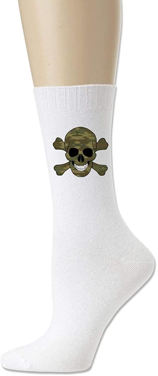 Men Women Socks Camouflage Skull Bones Boot Tube Dress Sock Crew Long Hose For Running