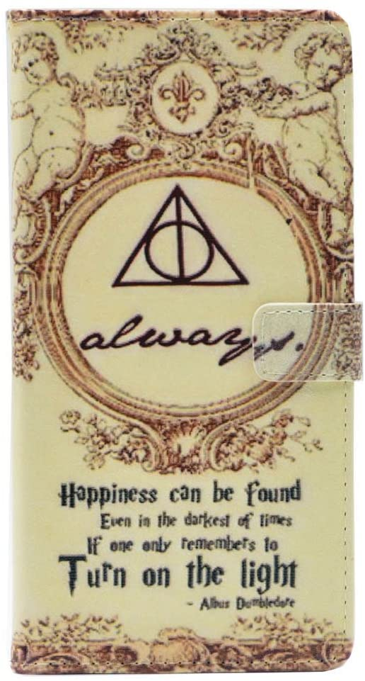 TPACC Galaxy J3 2018 Case, Hallows Always Magic Wizarding Quote Wallet Card Flip Stand Leather Case for Samsung Galaxy J3 2018/J3 Star/J3 Orbit/J3 V 3rd Gen/J3 Achieve/Express Prime 3/Amp Prime3