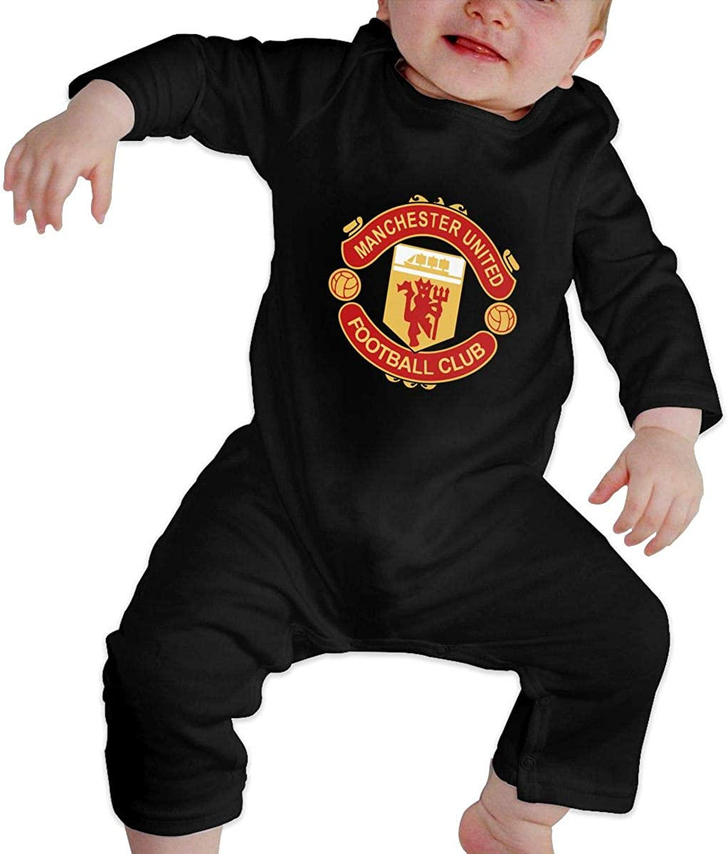 Manchester United Baby Girls Coverall Organic Cotton One-Piece Bodysuit