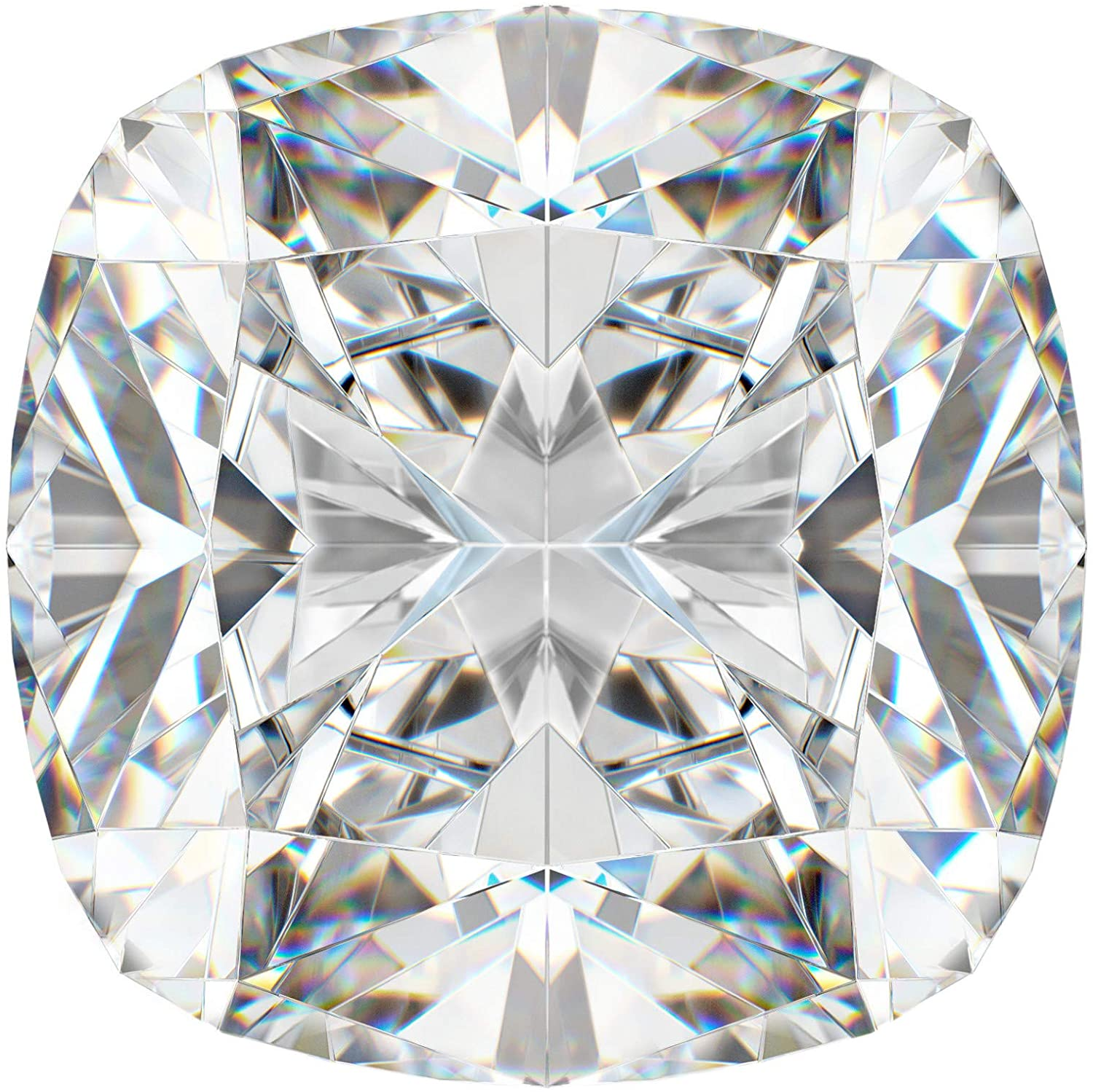 Bhumi Gems 6CT Cushion Cut Loose Moissanite VVS1 Clarity, Loose Gemstone for Engagement Ring & Jewelry Use for Pendant/Ring/Earring/Gift/Necklace/Bracelat Making