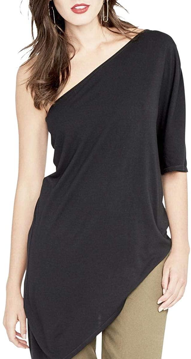 Rachel Roy Womens Asymmetrical One Shoulder Blouse
