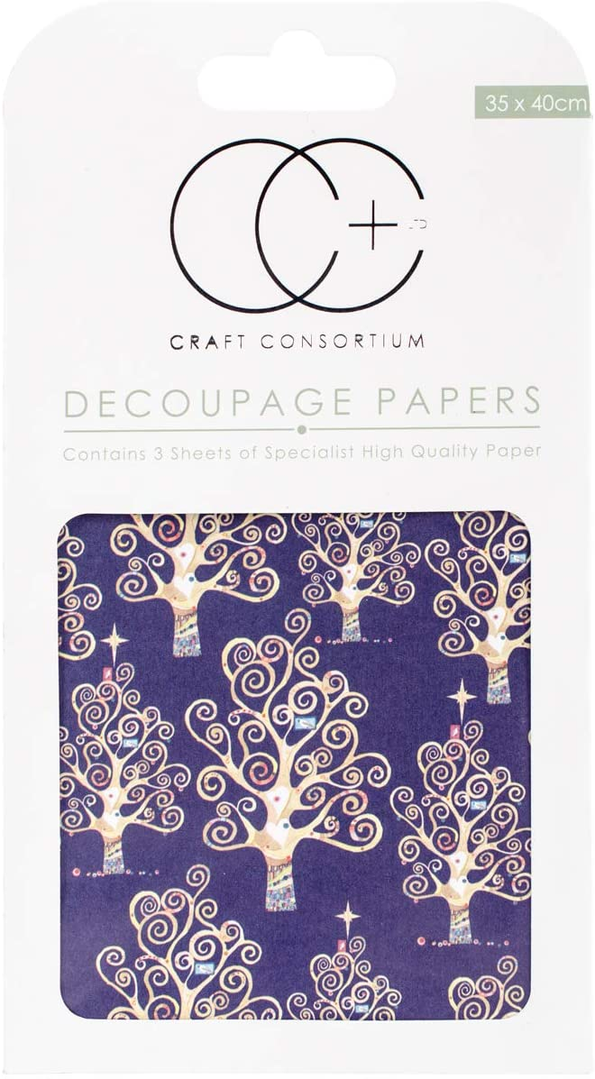 Craft Consortium Blue Trees Decoupage Papers (3/Pack), 13.75