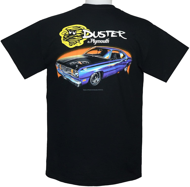 Hot Rod Apparel Company Plymouth 340 Duster T-Shirt 100% Cotton Preshrunk - Black - by HRAC