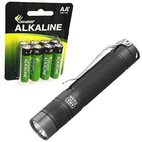 Eagletac D25A MK II XM-L2 LED Flashlight -405 Lumens -Free Eco-Sensa AA Batteries