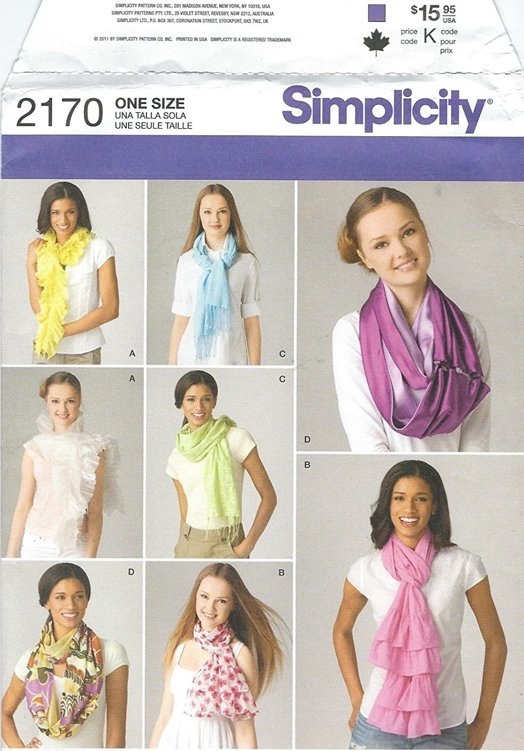 Simplicity 2170 Scarves Sewing Pattern supplier:sailorsparadise
