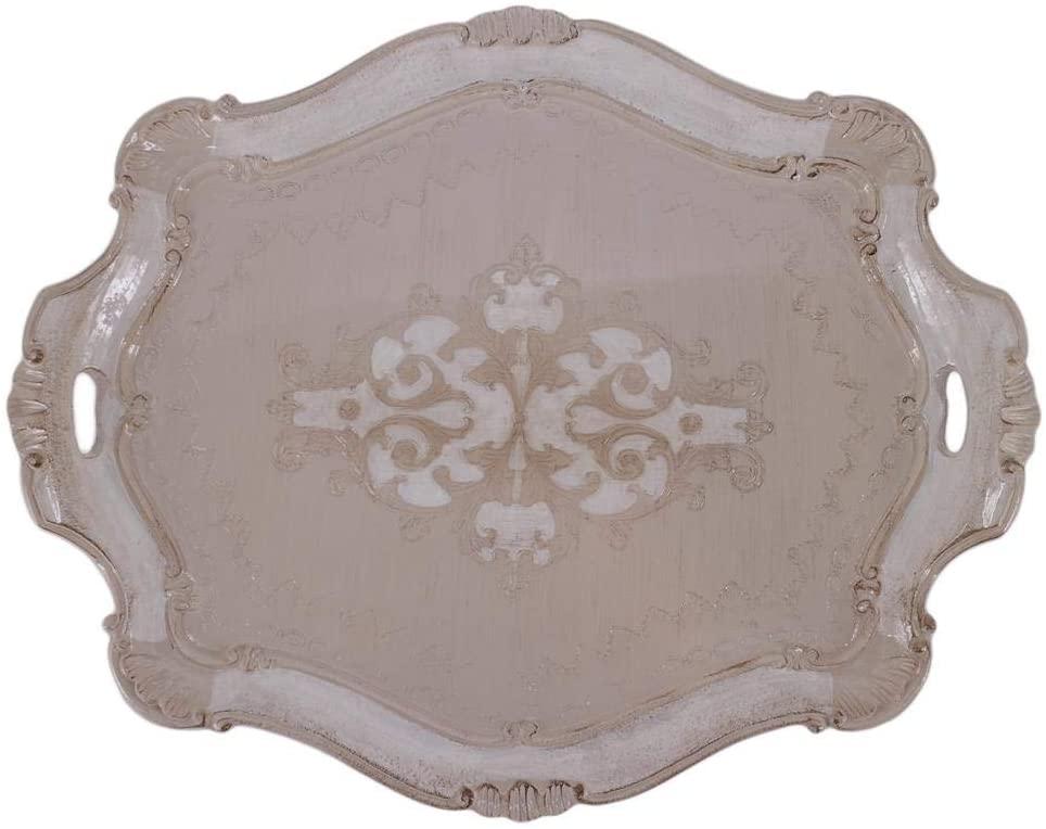 Pescarissi Art Decò Firenze PSS_TORT-OMF4 Oval Tray, Wood