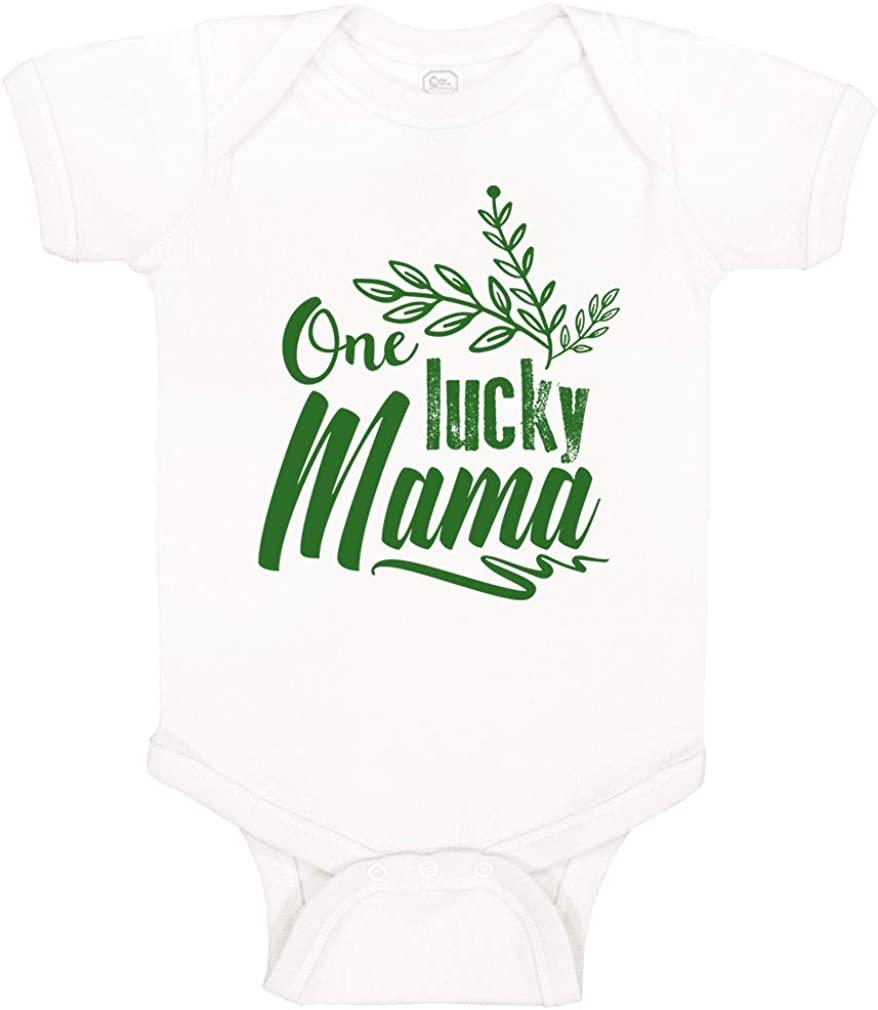 Baby Bodysuit Lucky Mama St Patricks Irish Clover Shamrock Green Funny Cotton