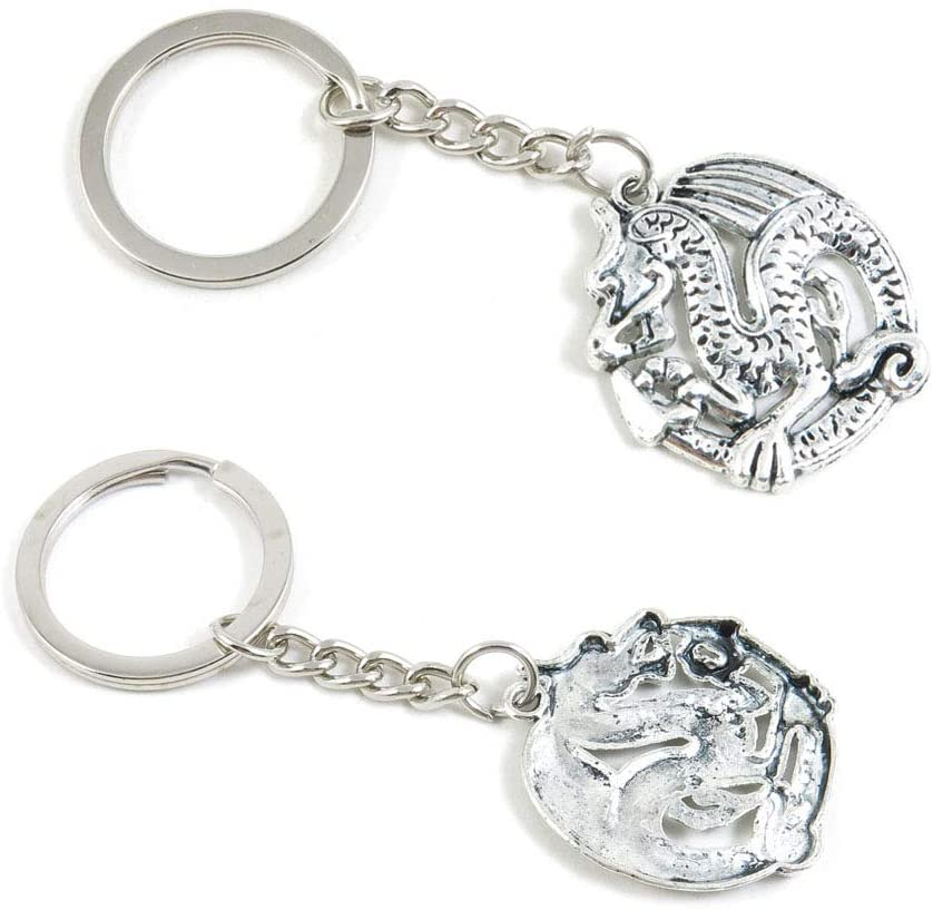 1 Pieces Keyring Keychain Wholesale Suppliers Jewelry Clasps J7NX4Y Dragon
