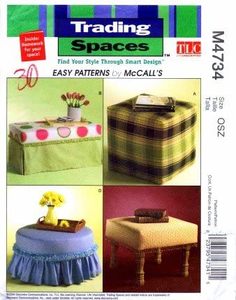 McCalls Trading Spaces Pattern M4734 ~ Ottomans