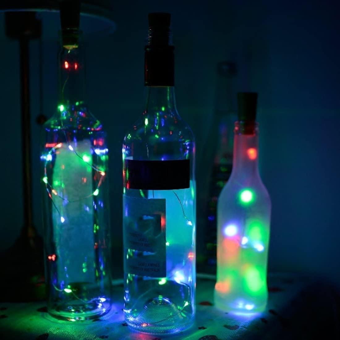 TT-COMMERCE Wine Bottle Lights with Cork,LED Cork Lights for Bottle,Copper Wire Bottle Lights for DIY, Party, Decor, Christmas, Halloween,Wedding(Multicolor)