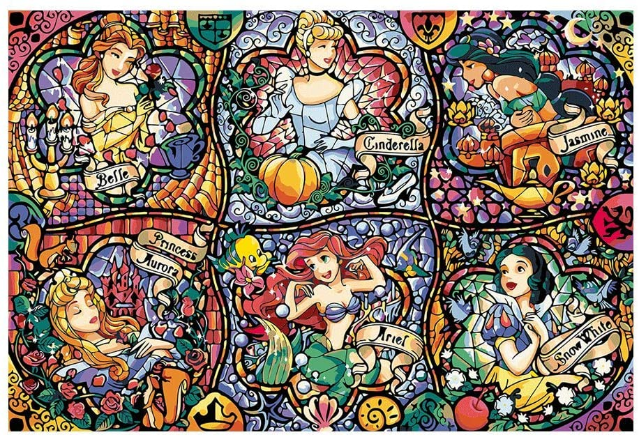 Kimily Diy Paint by Numbers for Adults Kids Disney Paint by Numbers Diy Painting Disney Princess Acrylic Paint by Numbers Painting Kit Home Wall Living Room Bedroom Decoration Disney Princess Ensemble