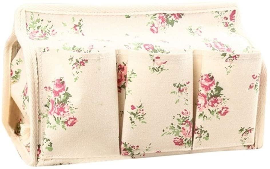 Cotton Linen Art Tissue Box Napkin Holder Cover Room Car Sofa Hotel Kitchen Decorative Paper Container Case School Supplies