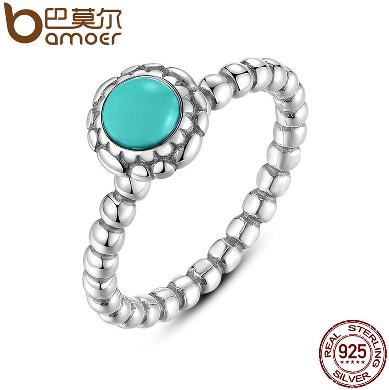 Slyq Jewelry Birthday Blooms Ring December Stone Stackable Bubble Ring 925 Sterling Silver Jewelry