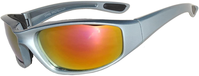 Men's Full Shield Mirror Lens Wrap Around Sunglasses Sport Cycling Running