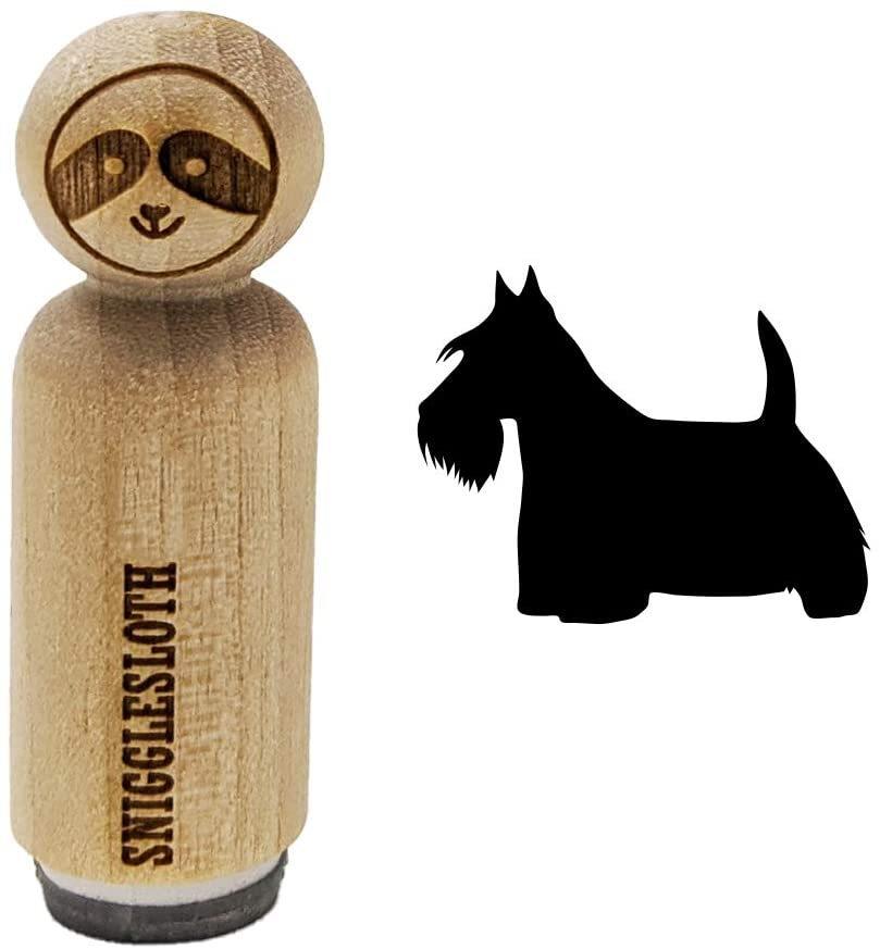 Scottish Terrier Scottie Dog Solid Rubber Stamp for Stamping Crafting Planners - 1/2 Inch Mini