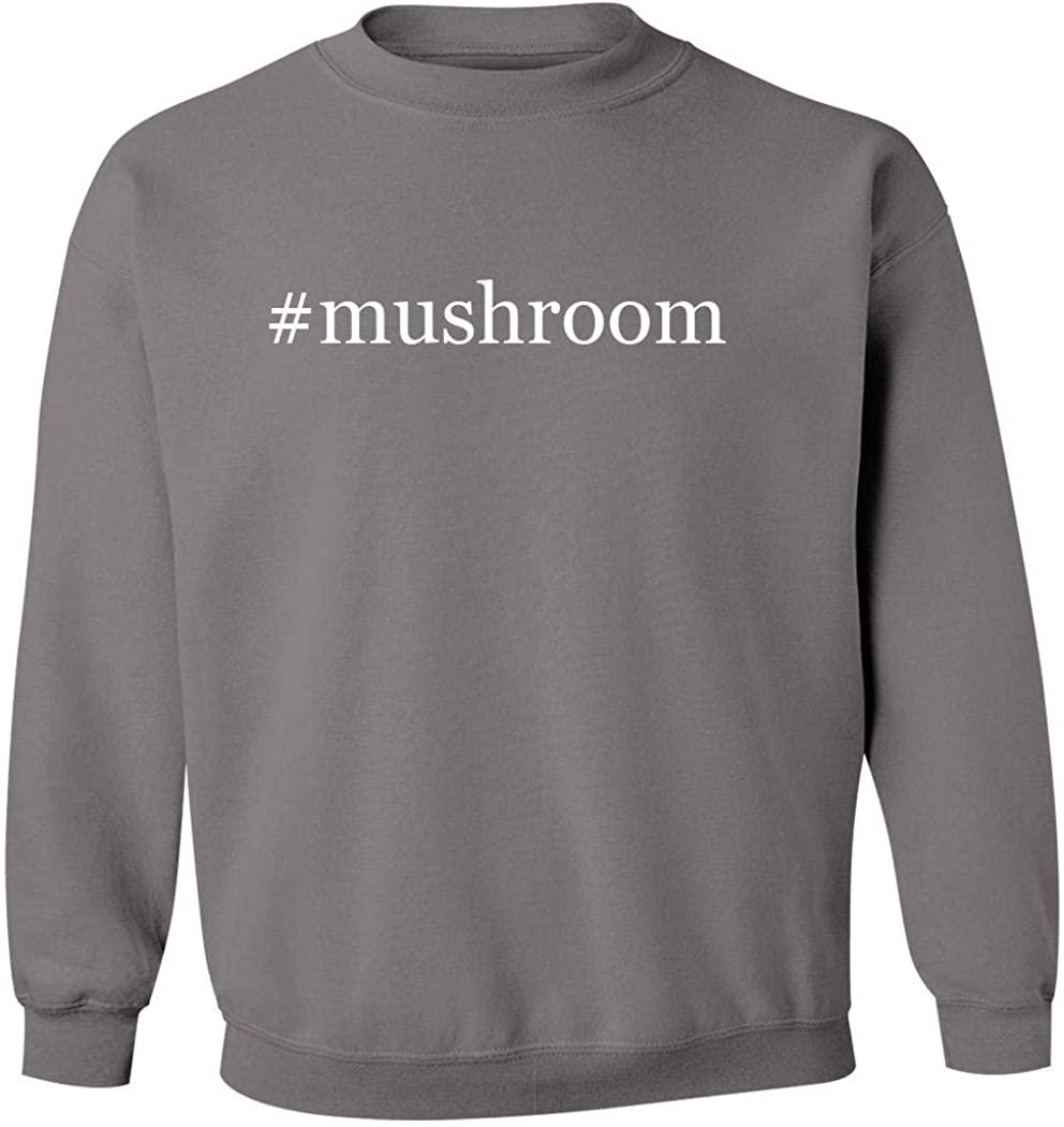 #mushroom - Men's Hashtag Pullover Crewneck Sweatshirt, Grey, Small