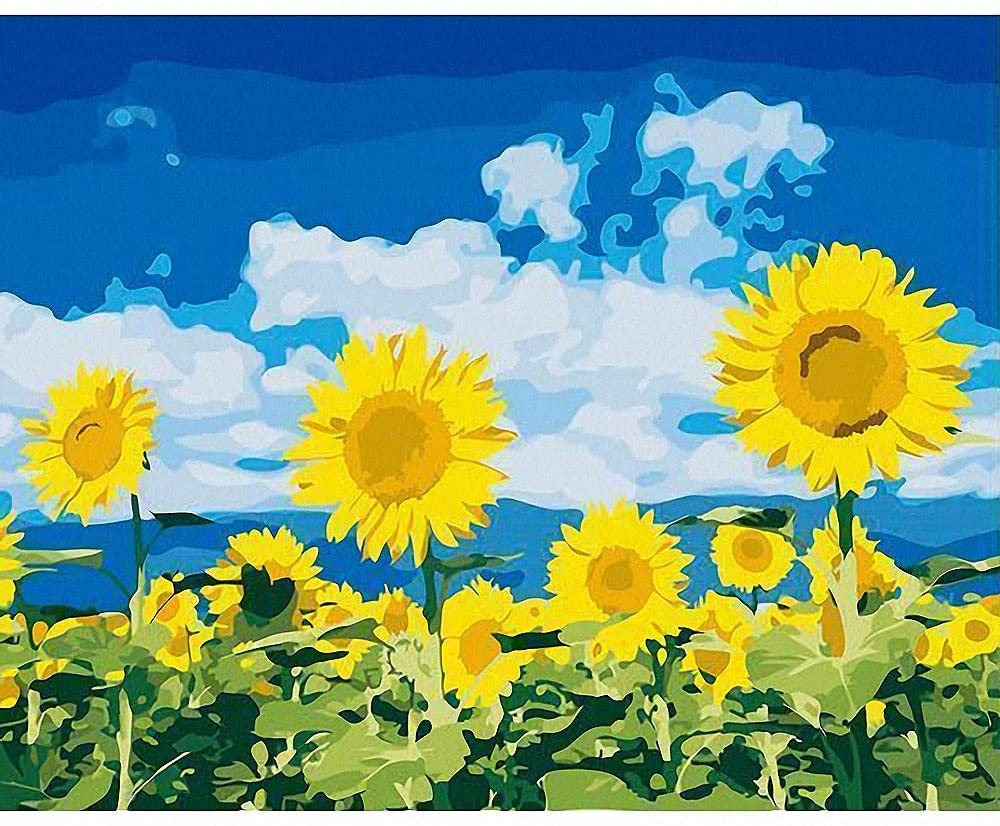 Sunflower Pictures Paint by Numbers DIY Acrylic Painting Kit for Kids & Adults 16
