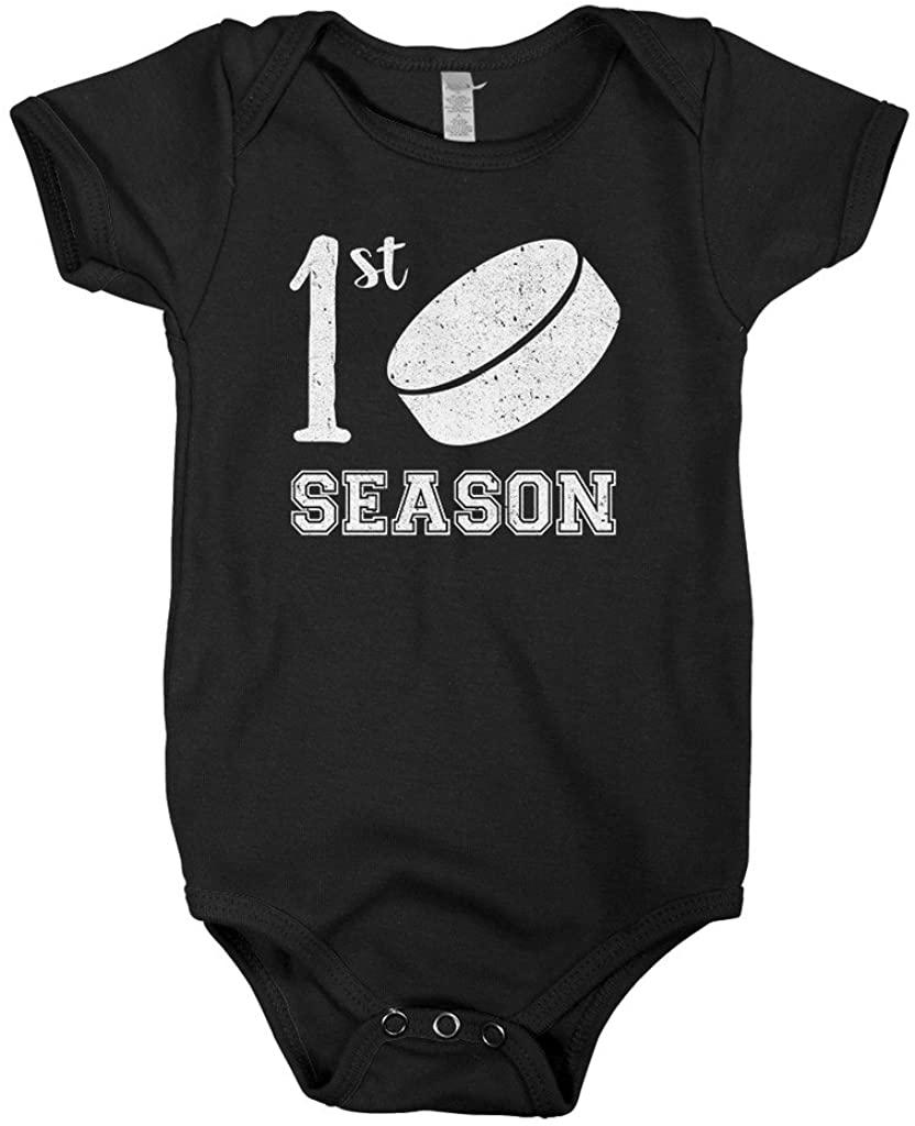 Mixtbrand Baby Boys' First Hockey Season Infant Bodysuit