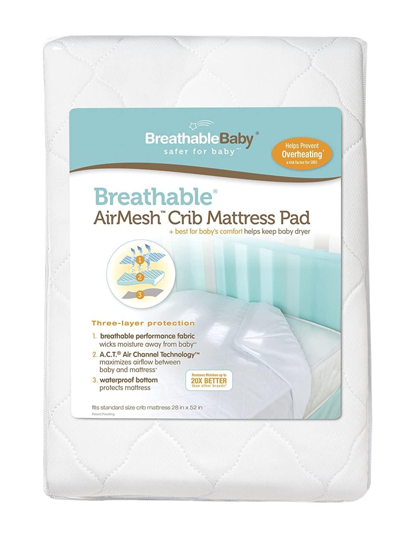 BreathableBaby AirMesh Crib Mattress Pad Cover