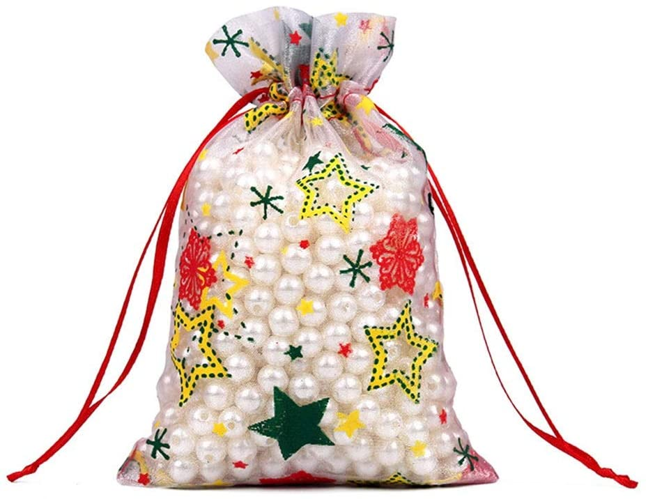 RuiXia Gift Bag -100 Mesh Bag Ornament Bags, Christmas Decorations, Candy Beam Port Bags, Storage Bags Finishing, Exquisite Bags Exquisite (Color : 7, Size : 10cm)