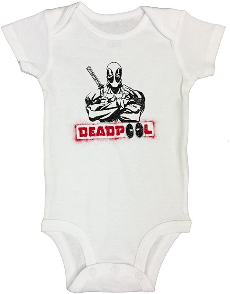 "Funny Onesie Kids Toddler T-Shirt ""Deadpool Tshirt"" Boys Girls - Funny Threadz 0-3 Months, White"