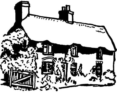 Azeeda A8 'Thatched Cottage' Unmounted Rubber Stamp (RS00026401)