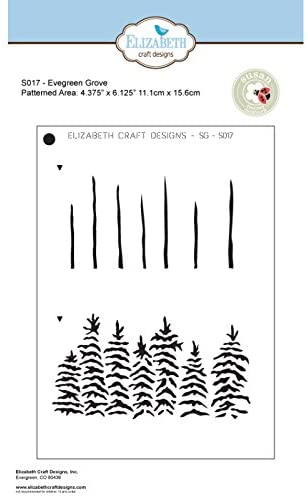 Elizabeth Craft Designs Evergreen Grove Behind The Scenes Stencil, Synthetic Material 18.5 x 13.8 x 0.1 cm
