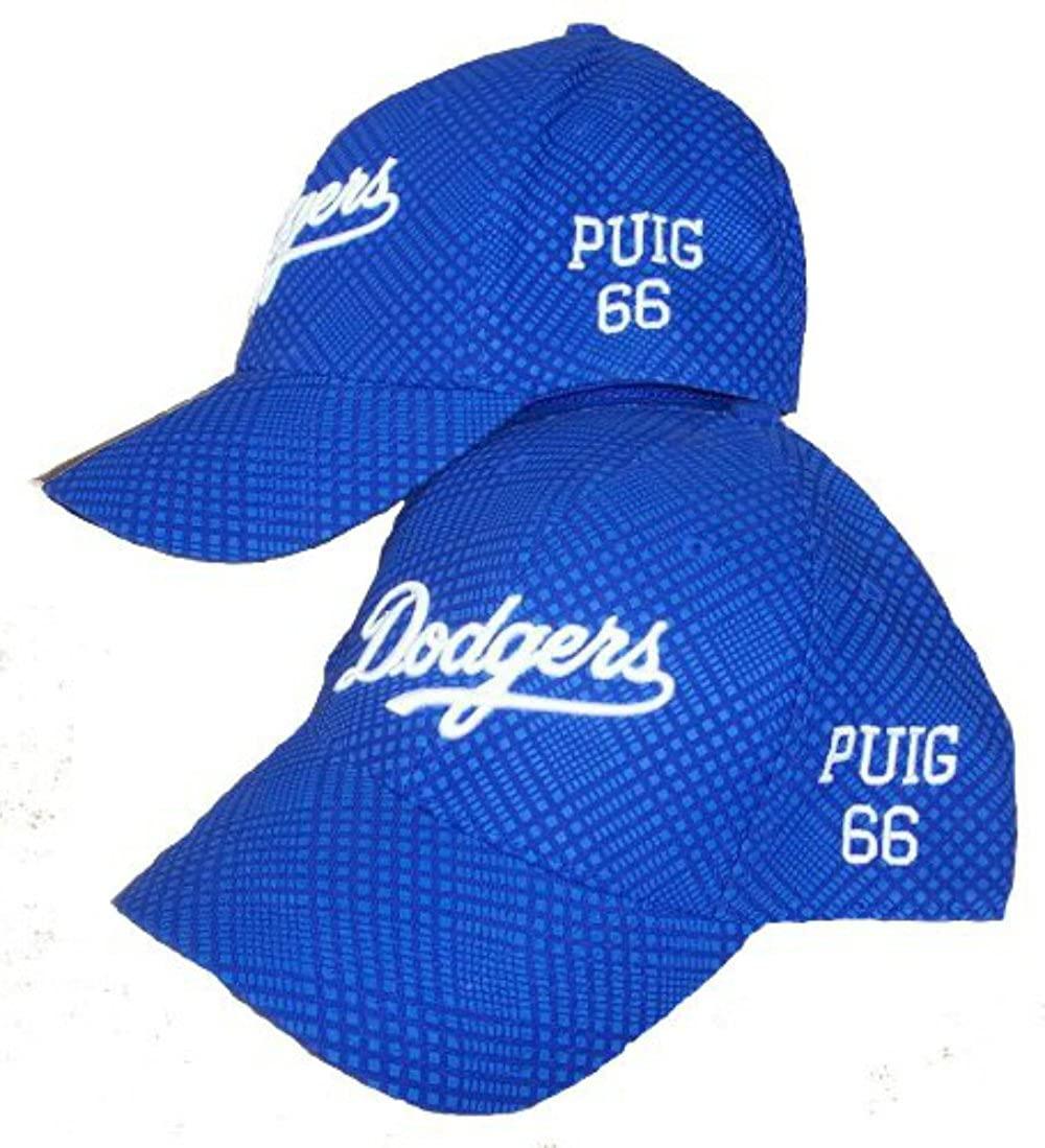 Yasiel Puig #66 Custom Los Angeles Dodgers Flex Fit Size Large/X-Large Hat Cap Best Fits 7 1/4-7 3/4